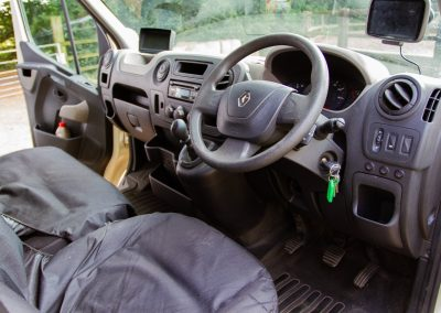 Horsebox cab interior